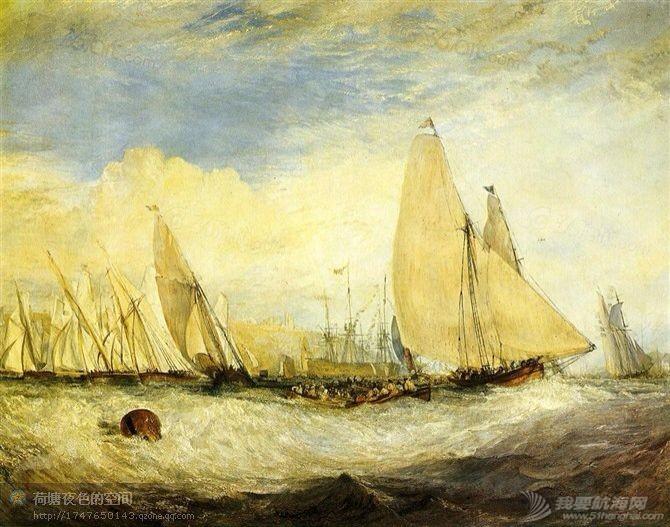 帆船,复古 几张复古的帆船油画 10.pic.jpg