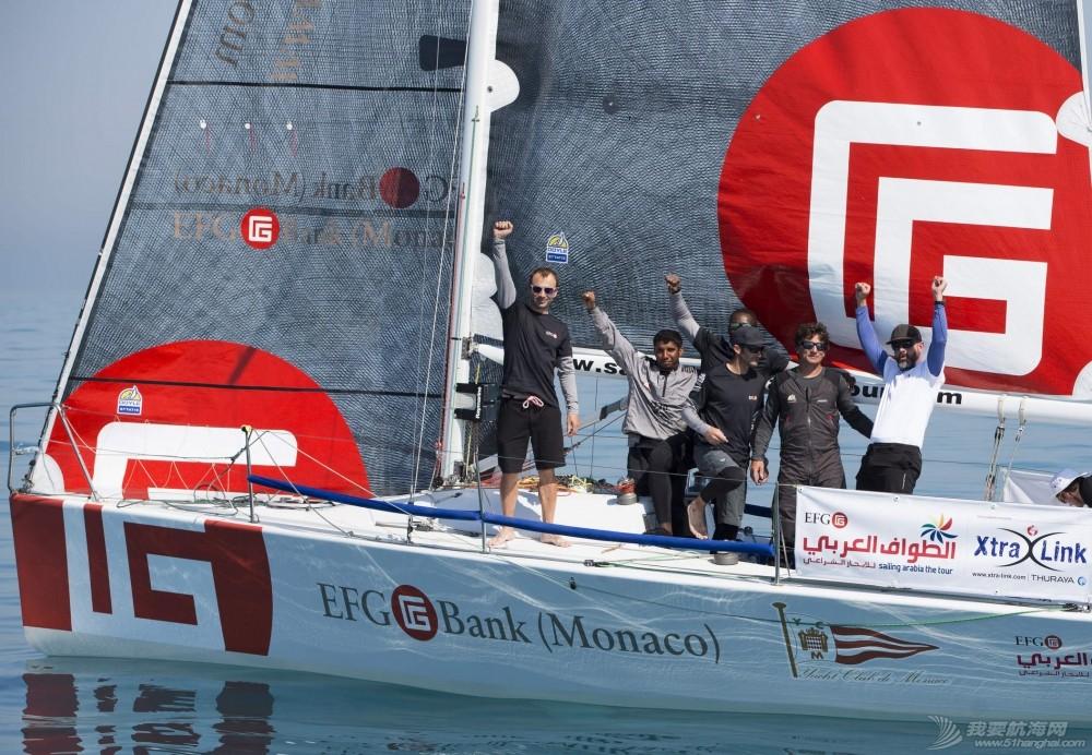 EFG阿拉伯半岛帆船赛连续六年举行  树立中东帆船赛事新典范 阿拉伯半岛帆船赛-EFG摩纳哥银行领先第三段.jpg