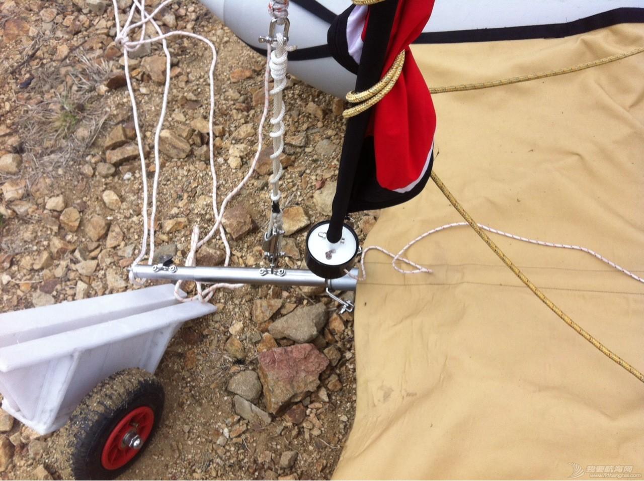 钢丝绳,热那亚,帆船,把手,空间 在家造帆船(下篇) 小拖车和前储物口袋