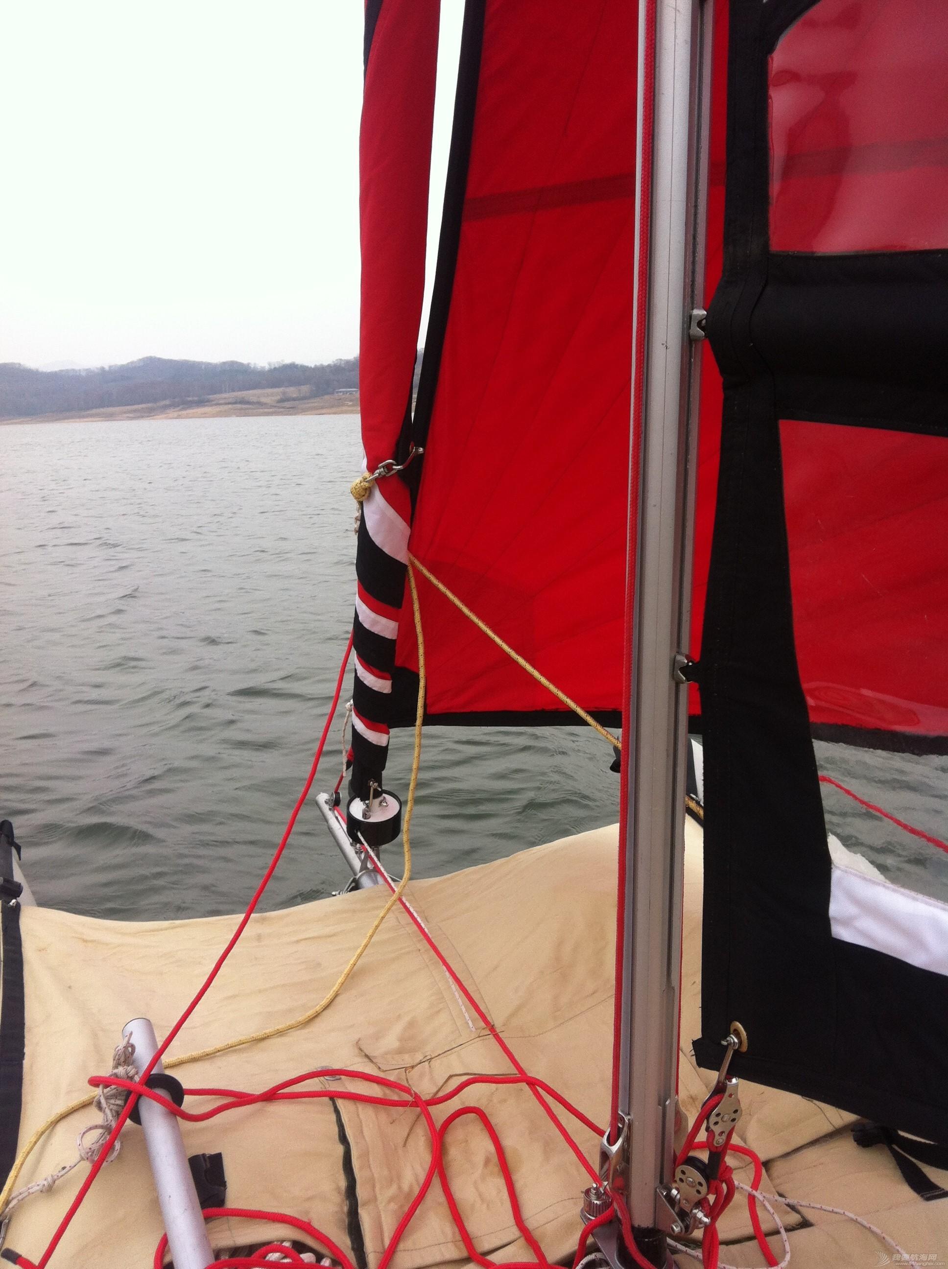 钢丝绳,热那亚,帆船,把手,空间 在家造帆船(下篇) 挂起大前帆航行
