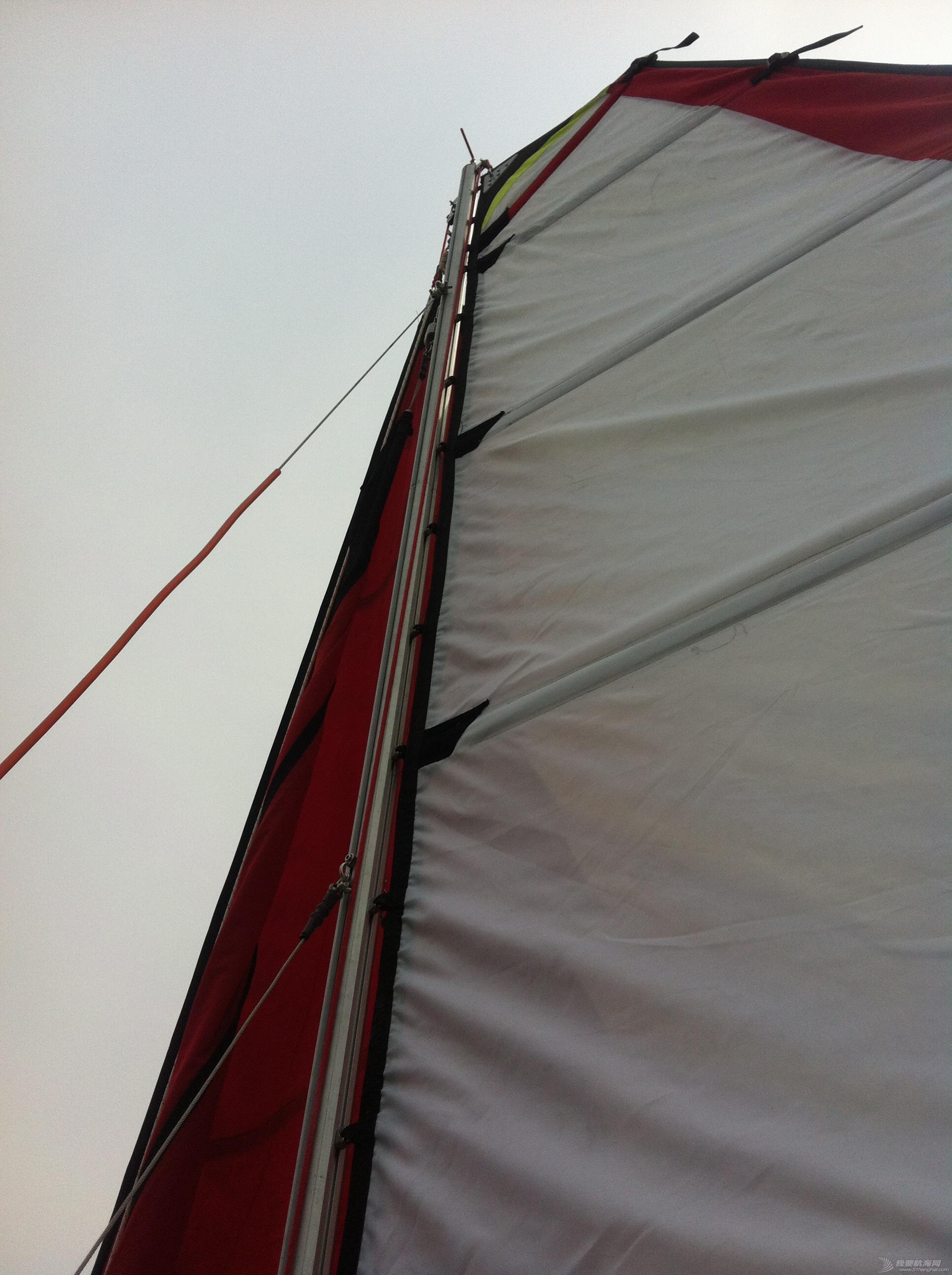 钢丝绳,热那亚,帆船,把手,空间 在家造帆船(下篇) 升起大前帆 卷上原主帆