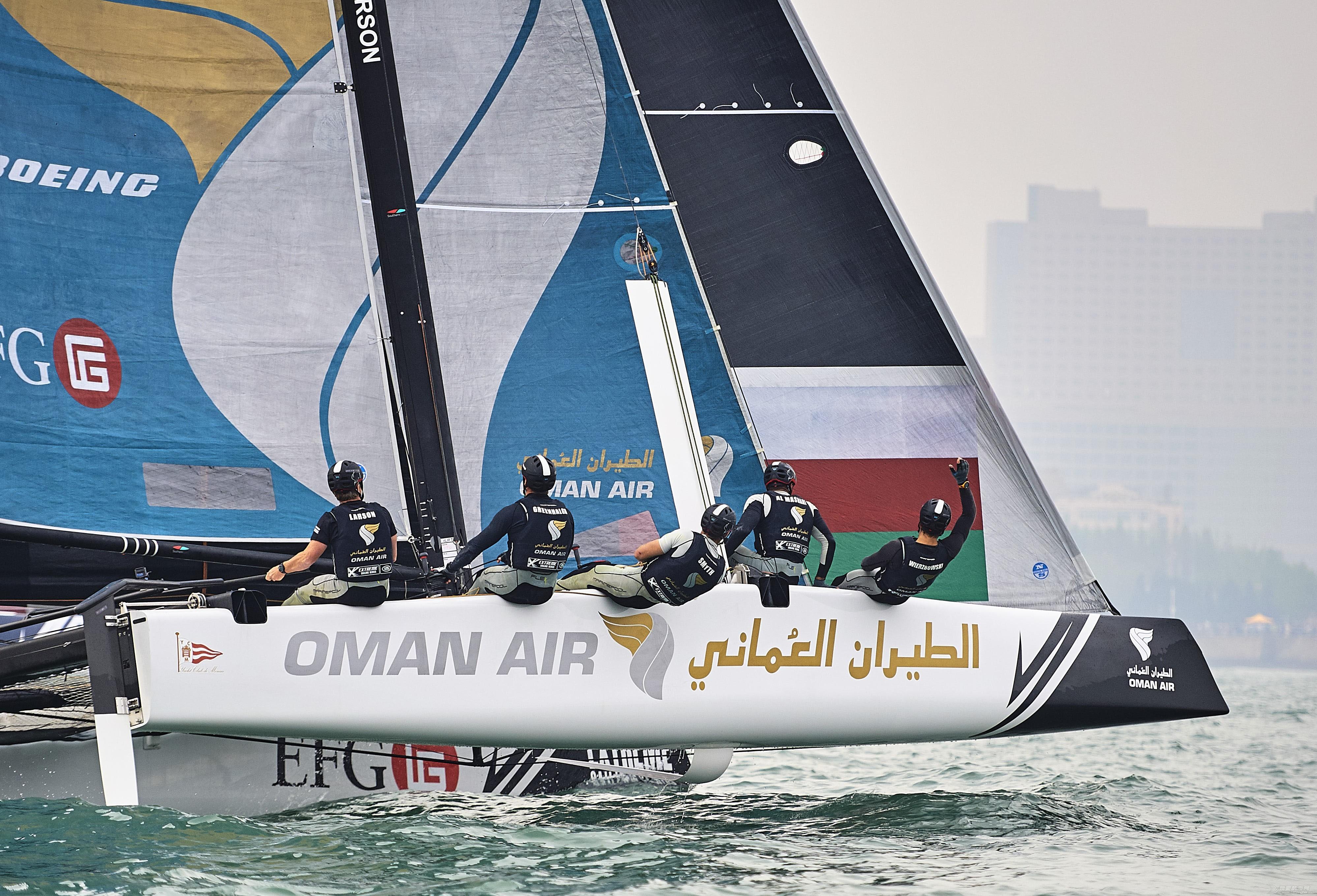 极限帆船系列赛青岛站进入最后一日比赛  阿曼航空队暂列第二  争取冠军 闃挎浖鑸┖闃熷湪闈掑矝绔欑洰鍓嶆帓鍚嶇浜