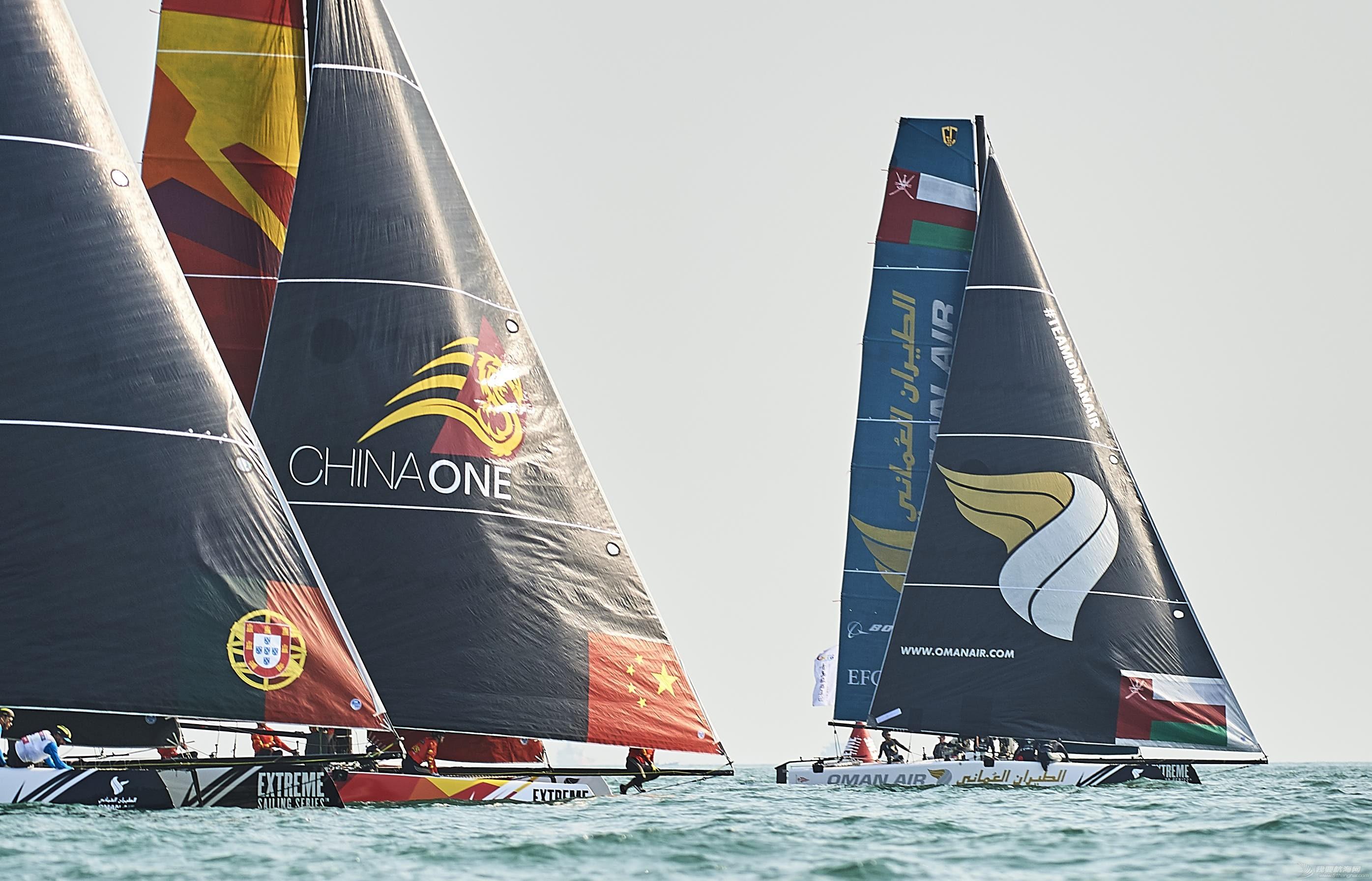 极限帆船系列赛青岛站赛程过半  冠军船队阿曼航空队展现实力 浠婂勾China