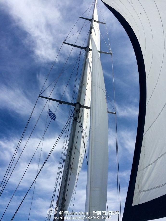 Laroobaa全帆航行在Ionian Sea视频