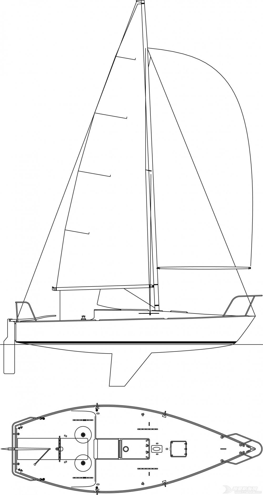 帆船,制作 GR-750帆船的龙骨制作 J24-Layouts-1000x1876.jpg