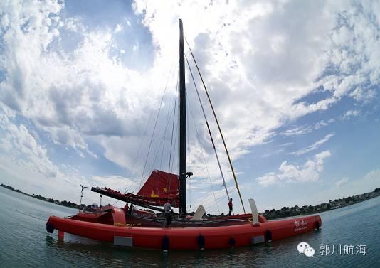 备战单人跨太平洋航行新纪录郭川在帆船麦加完成首次试航 026d839d01b0d3df027bf36935faf33f.jpg
