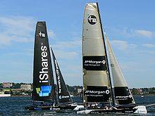 帆船分类,帆船赛事级别,帆船历史 史上最全帆船分类及帆船比赛级别 220px-Extreme40_iSharesCup_Kiel2008_09.jpg