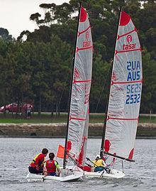 帆船分类,帆船赛事级别,帆船历史 史上最全帆船分类及帆船比赛级别 220px-2_Tasar_dinghies.jpg