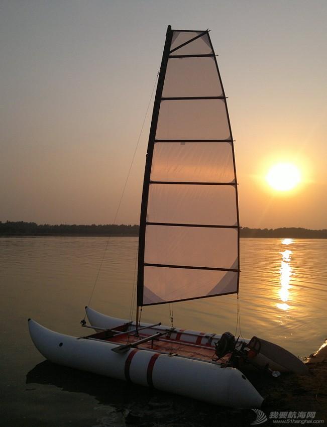 帆船,烟斗,充气帆船,双体帆船,DIY帆船 烟斗双体充气帆船历年的改进