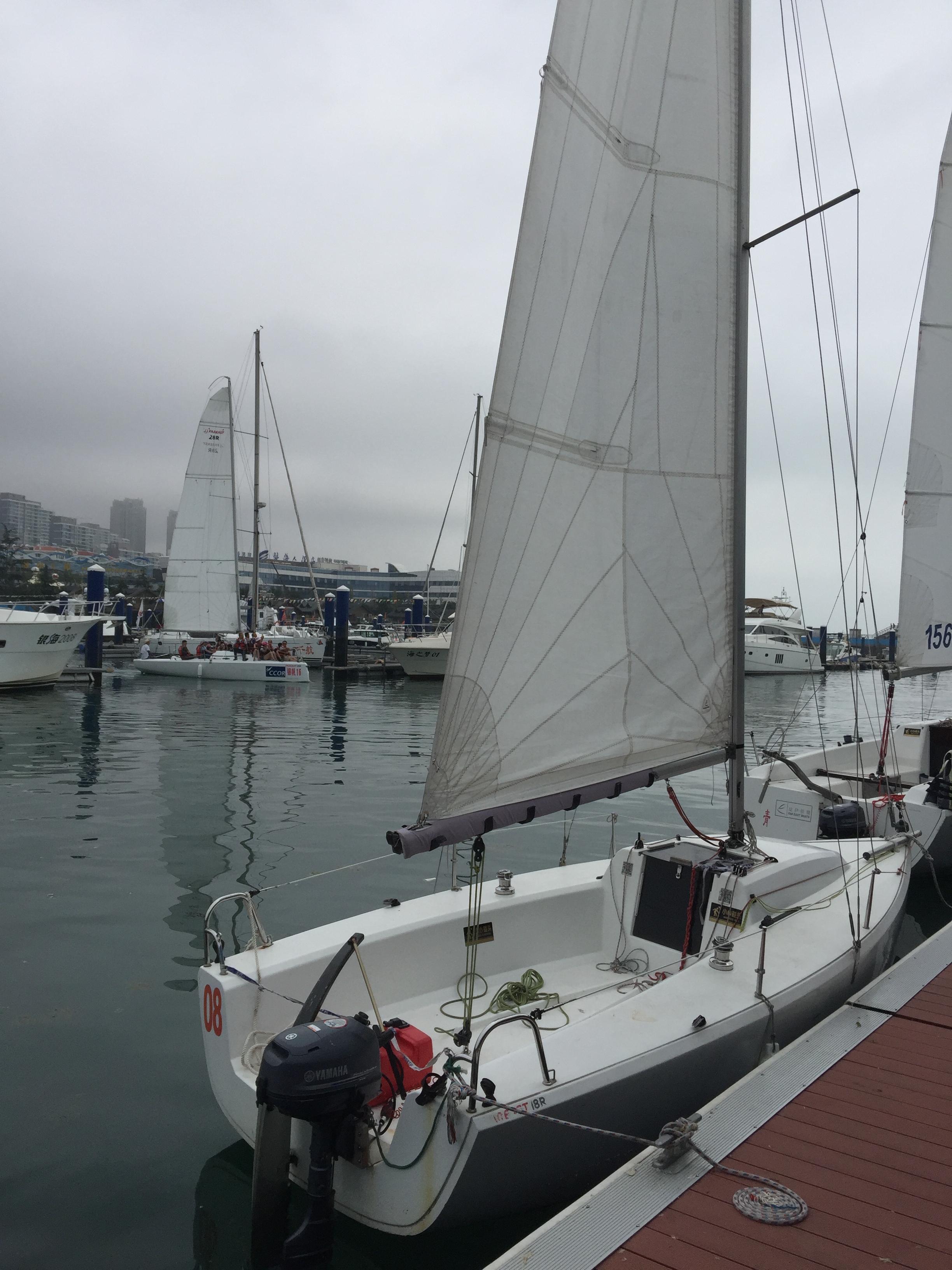 """雅马哈,帆船运动,室内设计,碳纤维,排水量 福利:7万一条处理两条""""珐伊18""""帆船【青岛】"""