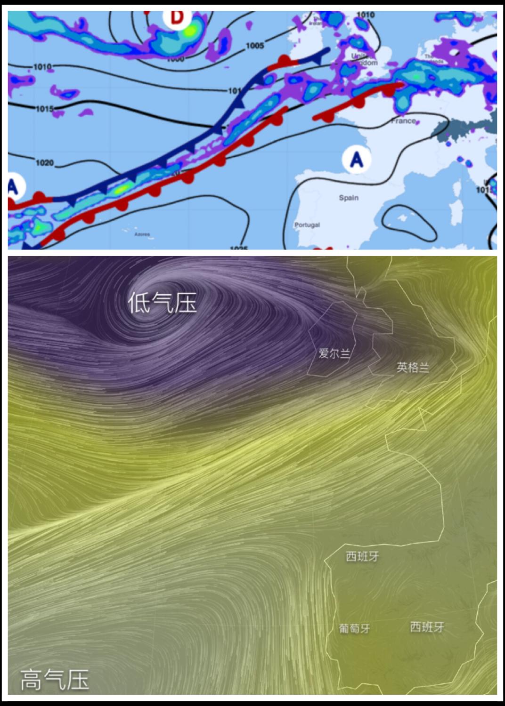 西班牙,北大西洋,葡萄牙,爱尔兰,北半球 六天气象窗巧算,千里葡萄牙直航--《再济沧海》(64) image.png