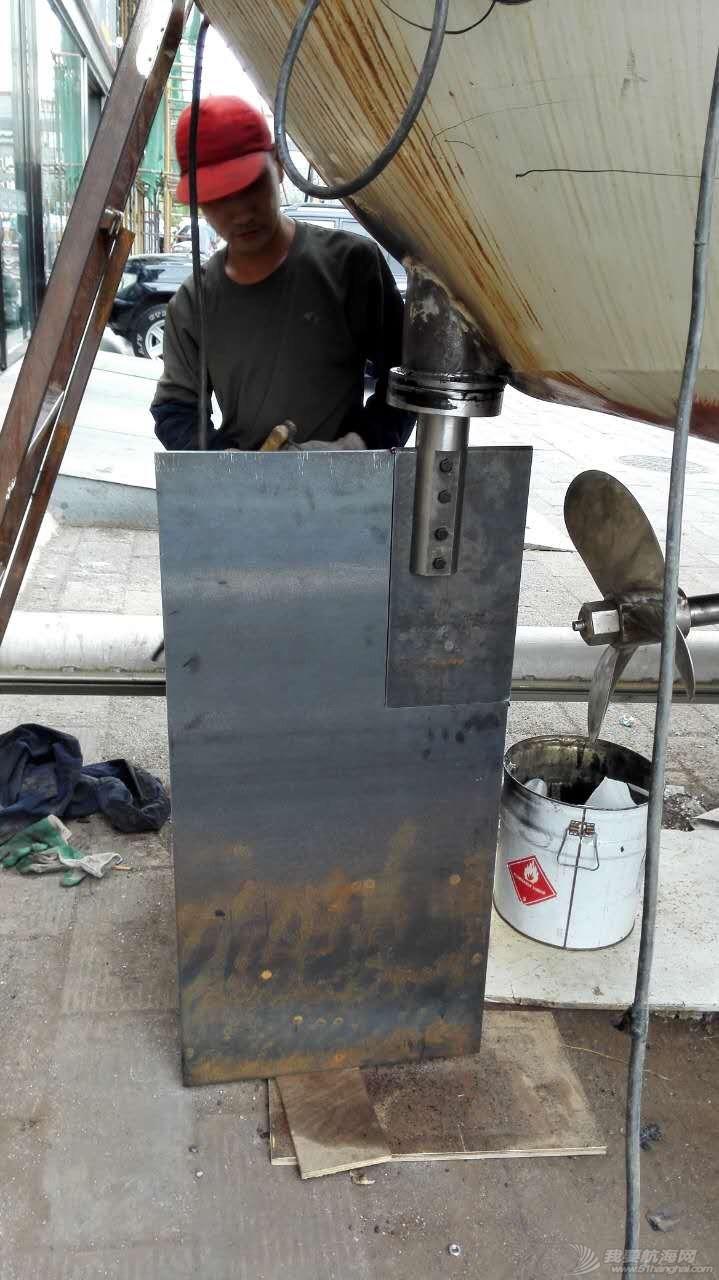 2016.9.2日舵轴安装进度 舵板形状修改中 170355boc2oosi6ikfiovf.jpg