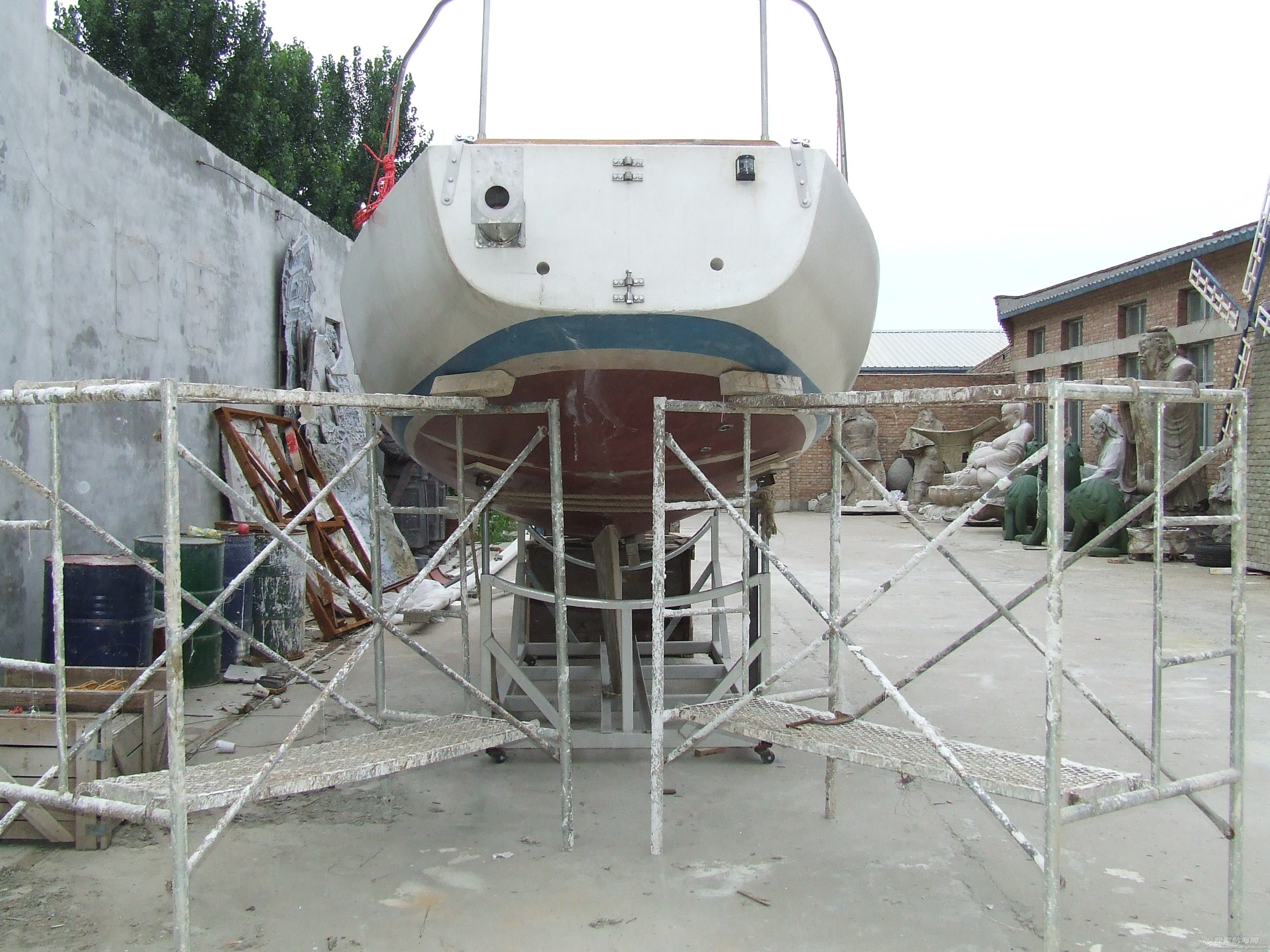 帆船 GR-750帆船龙骨安装 DSCF8043.JPG