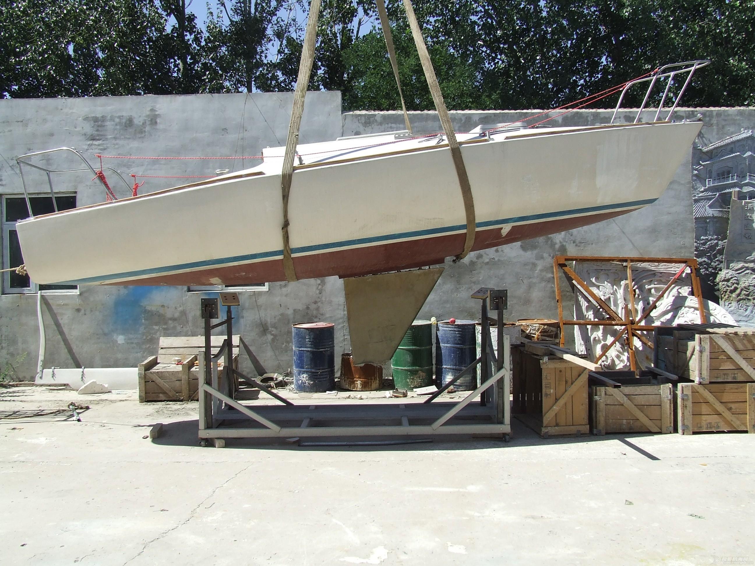帆船 GR-750帆船龙骨安装 DSCF8060.JPG