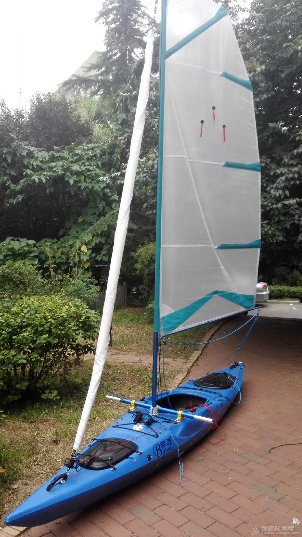 帆船 皮艇加帆冒充帆船diy