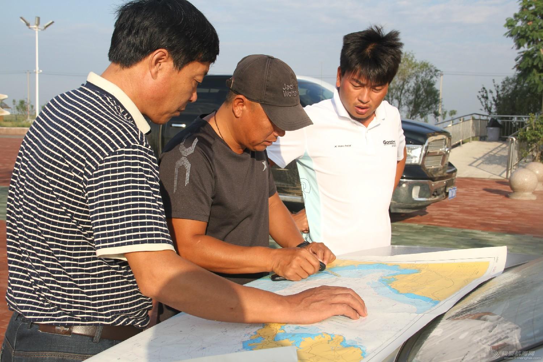 中国,渤海,帆船 中国首次单人单船无停靠无动力驾驶三体帆船穿越渤海