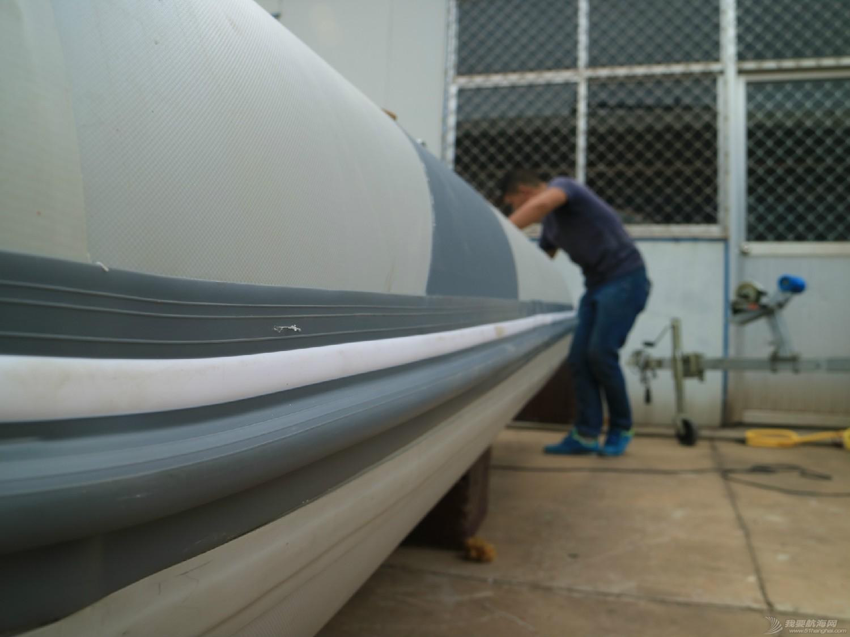 橡皮艇 橡皮艇气囊更换全程跟踪