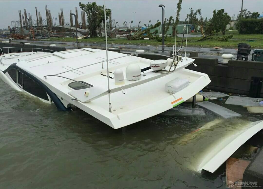 """""""鲇鱼""""给台湾的游艇带来很大的破坏。 181404oez8q88xsm8iafe5.jpg"""