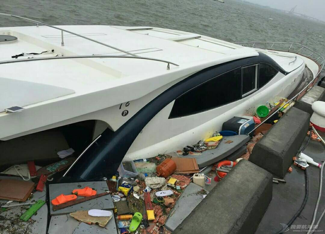 """""""鲇鱼""""给台湾的游艇带来很大的破坏。 181405lfpvckqkf0llp6um.jpg"""