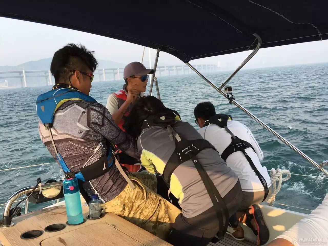 人生第一次长航-参加我要去航海-千航帆船队-环渤海拉力赛 激烈的比赛