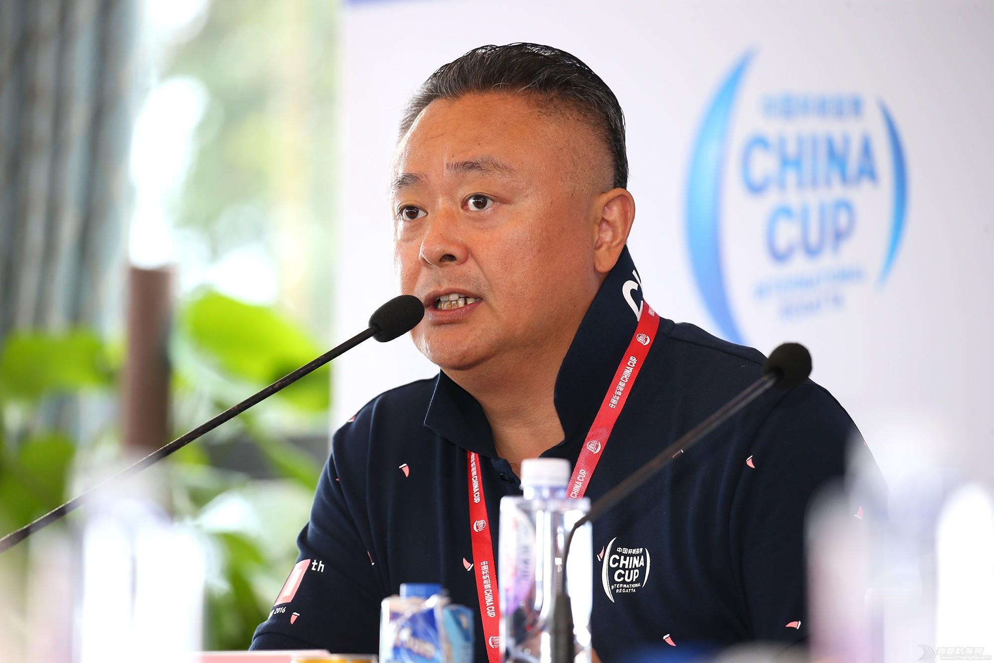 新闻发布会,中国 中国杯帆船赛新闻发布会现场,钟勇、苏科接受我要航海网采访 E78W2937.JPG
