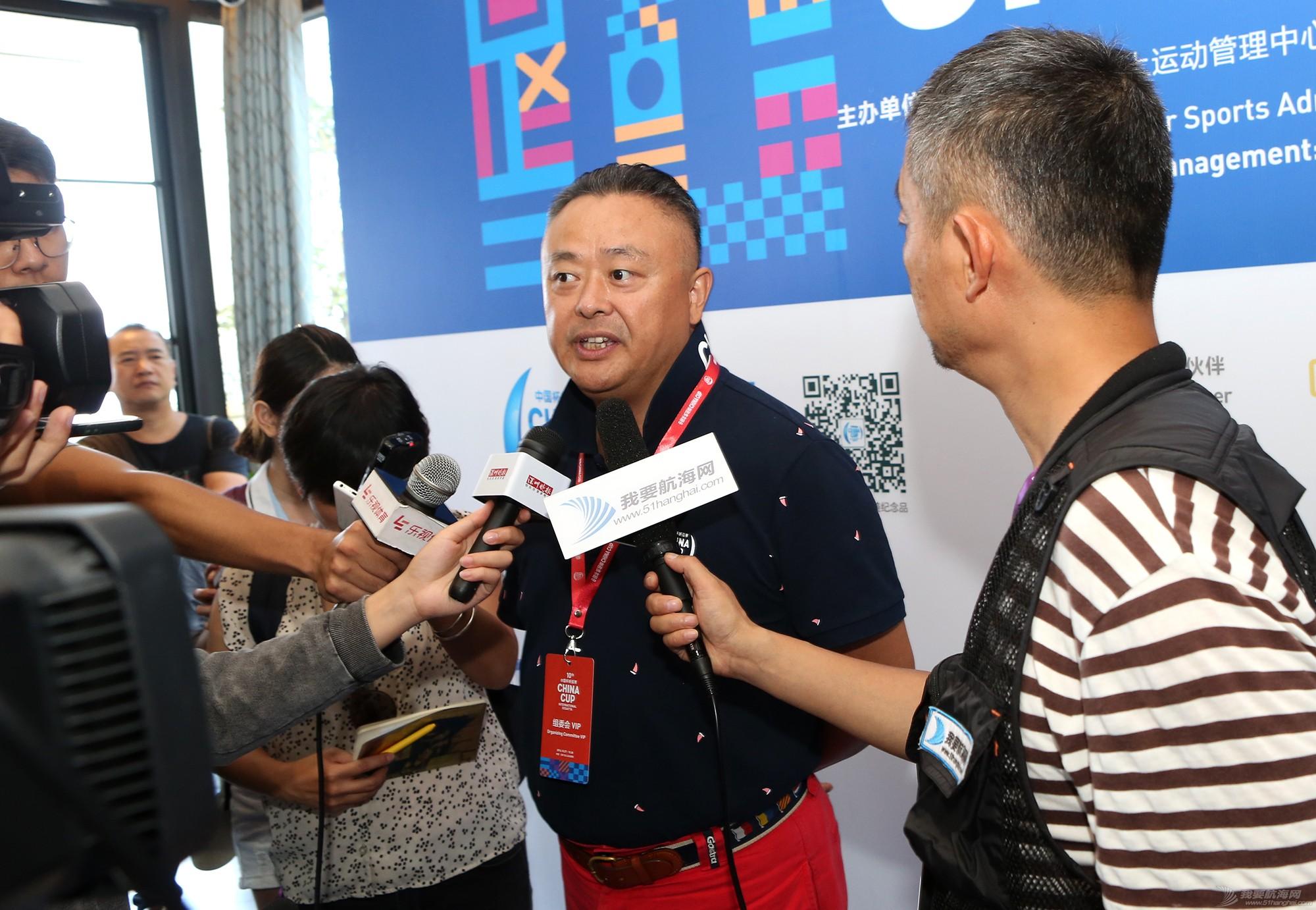新闻发布会,中国 中国杯帆船赛新闻发布会现场,钟勇、苏科接受我要航海网采访 5V8A5499.JPG