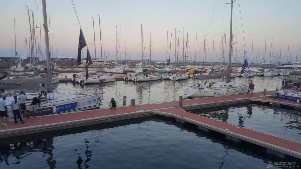 中国 2016中国杯帆船赛 港口等待进港船队