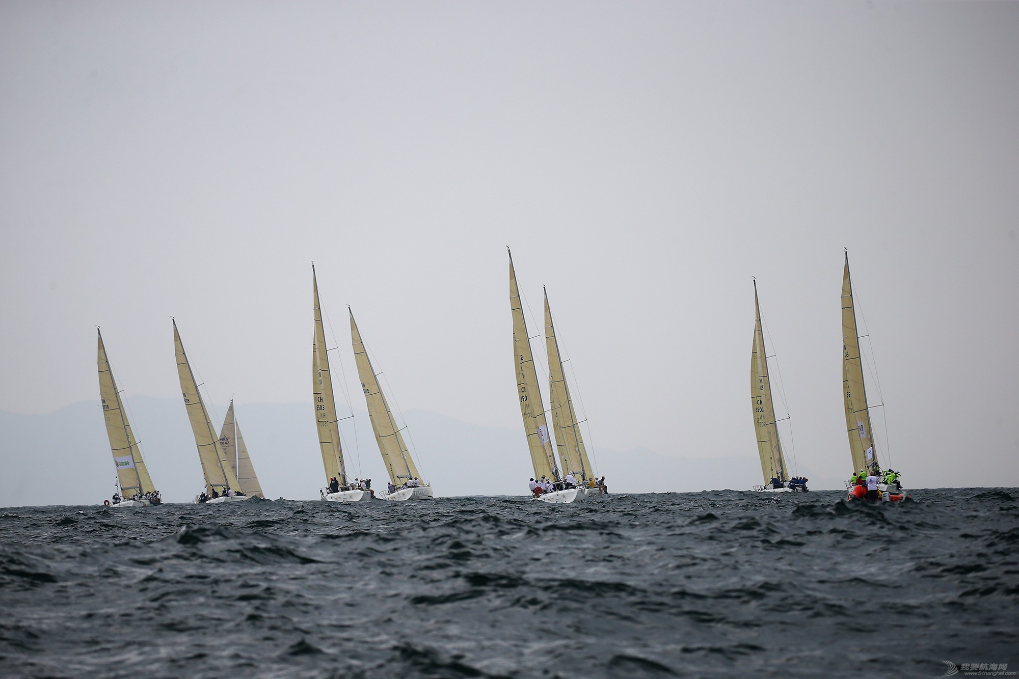 中国 中国杯帆船赛第三日——无风不起浪,雨中见刀枪 E78W6606.JPG