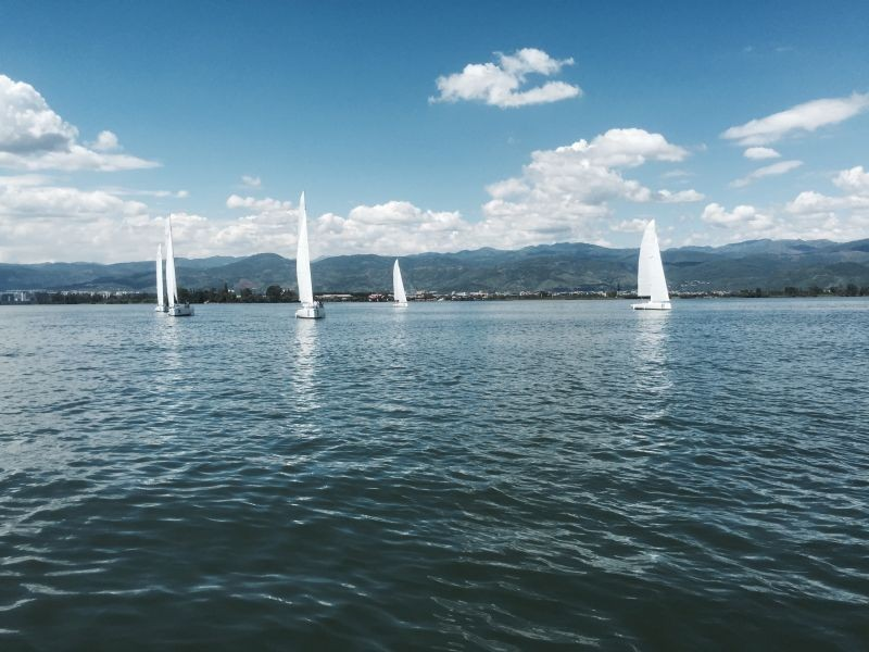 不见不散,帆船,西昌,国际 岸上跑西马 ——20艘帆船集结完毕 11月5日将扬.