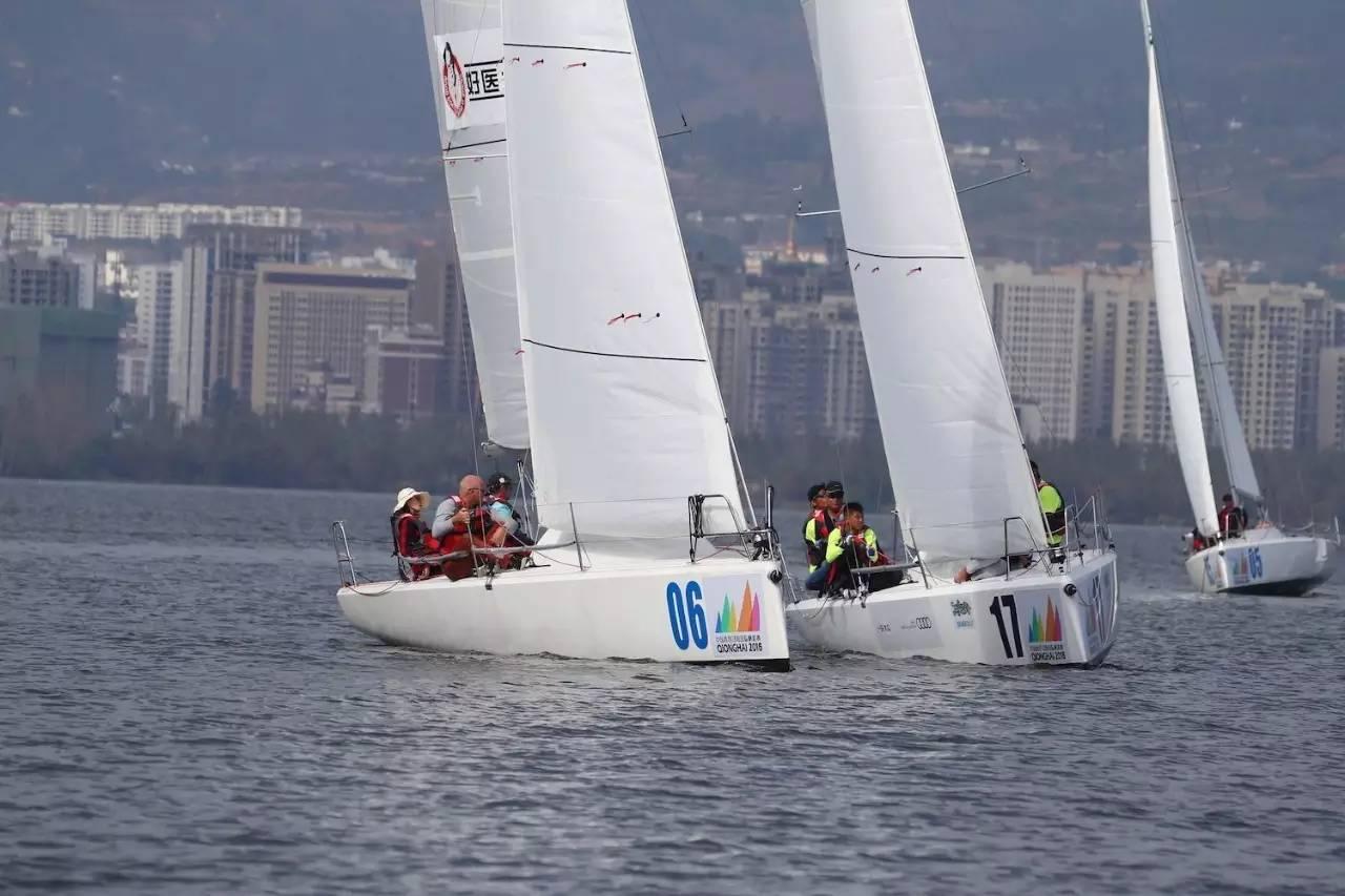 邛海帆船赛第二日比赛赛况