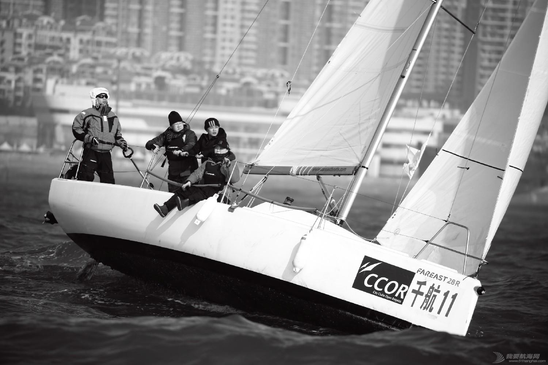 """图片,黄海,帆船,黑白 帆船的世界也可以是黑白的—2016首届""""黄海杯""""帆船赛图片精选 E78W3986鍓湰.jpg"""