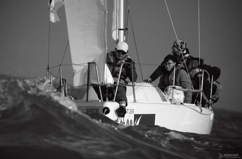"""图片,黄海,帆船,黑白 帆船的世界也可以是黑白的—2016首届""""黄海杯""""帆船赛图片精选 E78W4728"""
