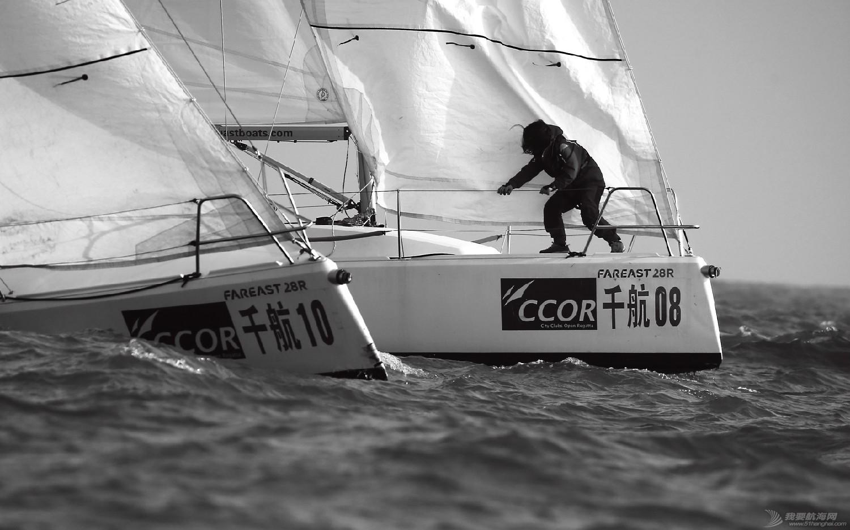 """图片,黄海,帆船,黑白 帆船的世界也可以是黑白的—2016首届""""黄海杯""""帆船赛图片精选 E78W5052"""