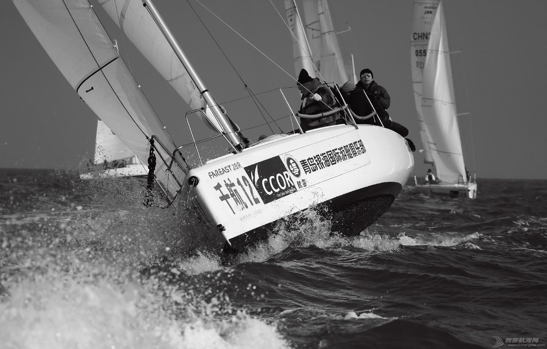 """图片,黄海,帆船,黑白 帆船的世界也可以是黑白的—2016首届""""黄海杯""""帆船赛图片精选 E78W5081"""