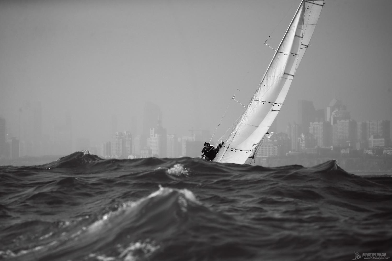 """图片,黄海,帆船,黑白 帆船的世界也可以是黑白的—2016首届""""黄海杯""""帆船赛图片精选 E78W5166"""