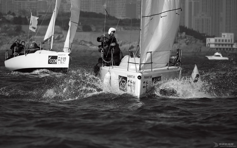 """图片,黄海,帆船,黑白 帆船的世界也可以是黑白的—2016首届""""黄海杯""""帆船赛图片精选 E78W5227"""