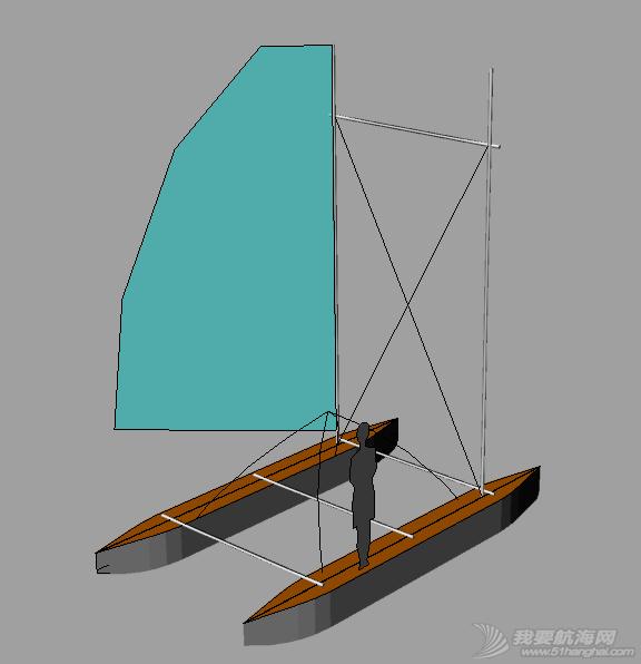4.8m双体带舱简易帆船