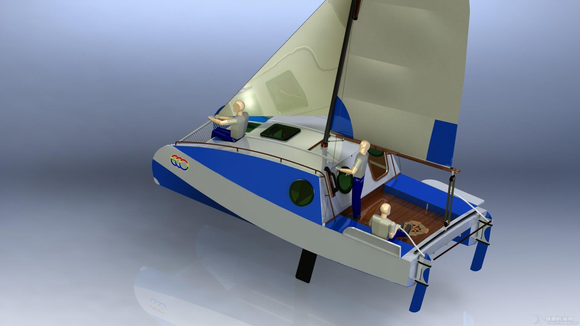 帆船,迷你 迷你有船舱的双体帆船 53a405b54d1e2.JPG
