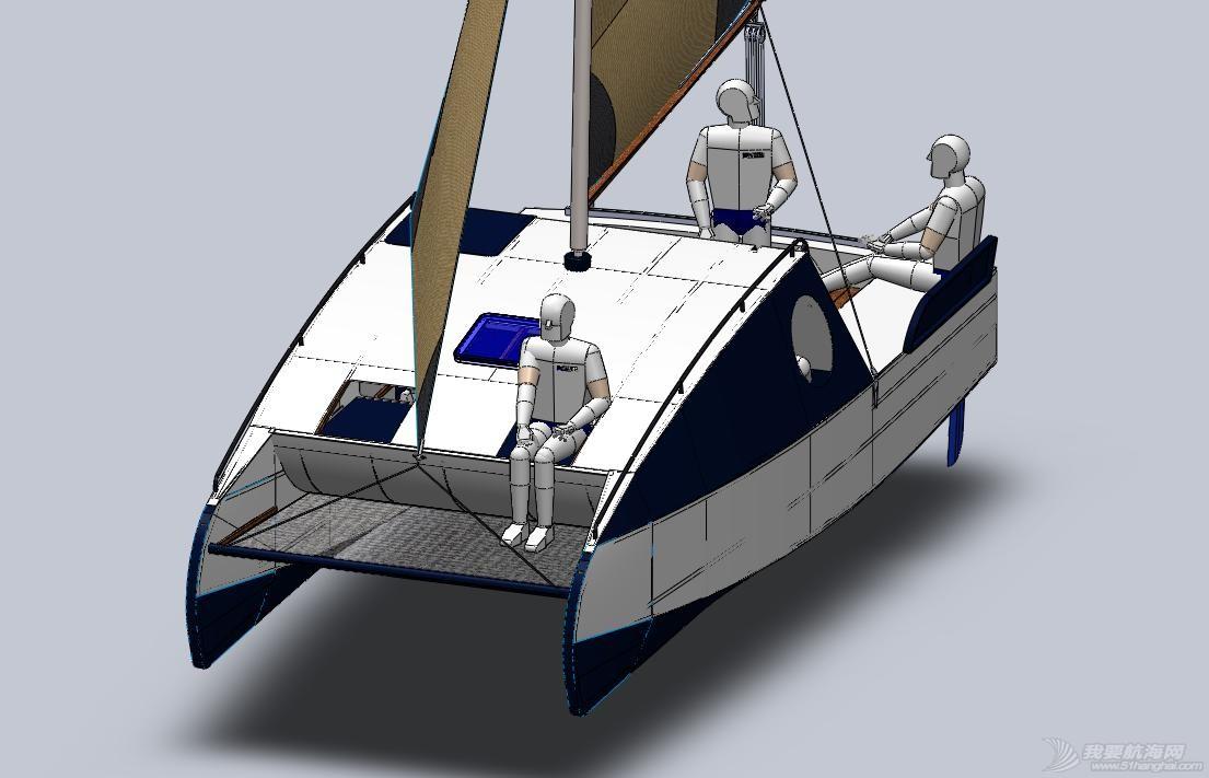 帆船,迷你 迷你有船舱的双体帆船 53a405b54d9cf.jpg