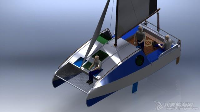 帆船,迷你 迷你有船舱的双体帆船 53a405b54dd99.JPG