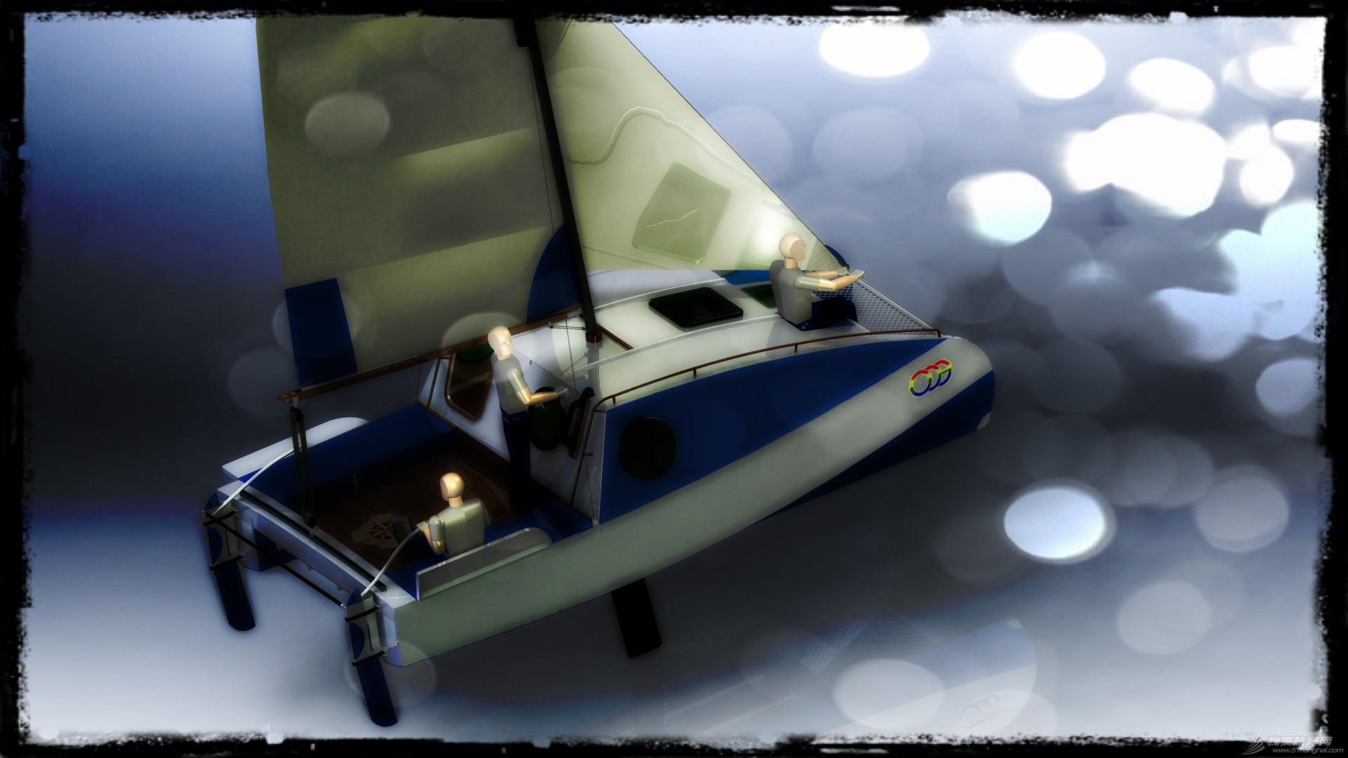 帆船,迷你 迷你有船舱的双体帆船 53a405b54e182.jpg