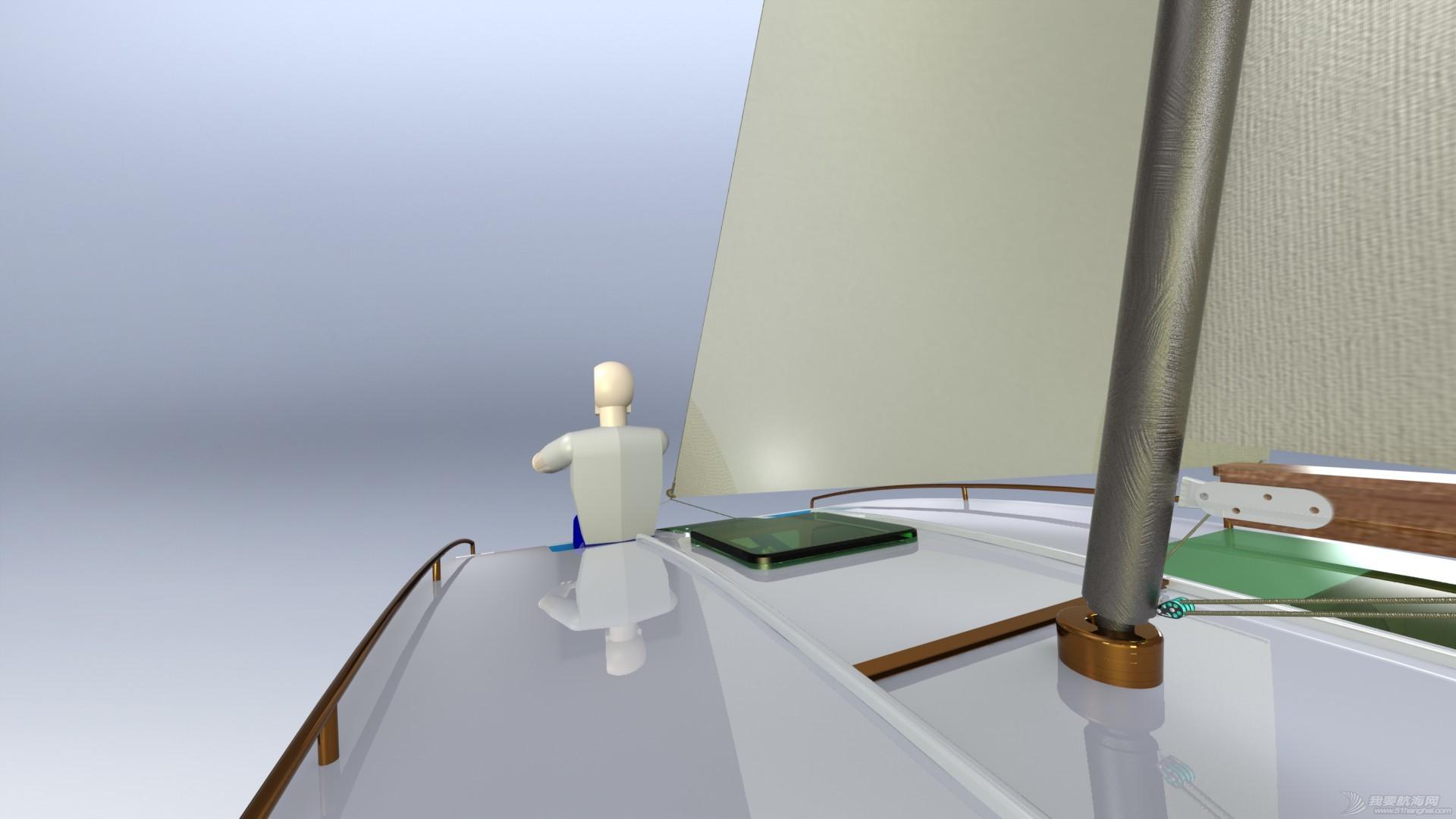 帆船,迷你 迷你有船舱的双体帆船 53a405b54e94f.JPG