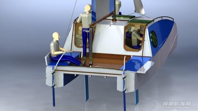 帆船,迷你 迷你有船舱的双体帆船 53a405b54f504.JPG