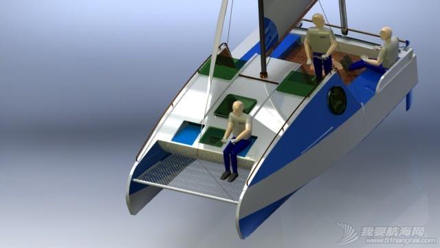 帆船,迷你 迷你有船舱的双体帆船 53a405b55b455.JPG