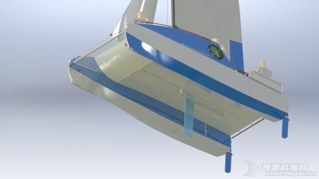 帆船,迷你 迷你有船舱的双体帆船 53a405b552f93.JPG