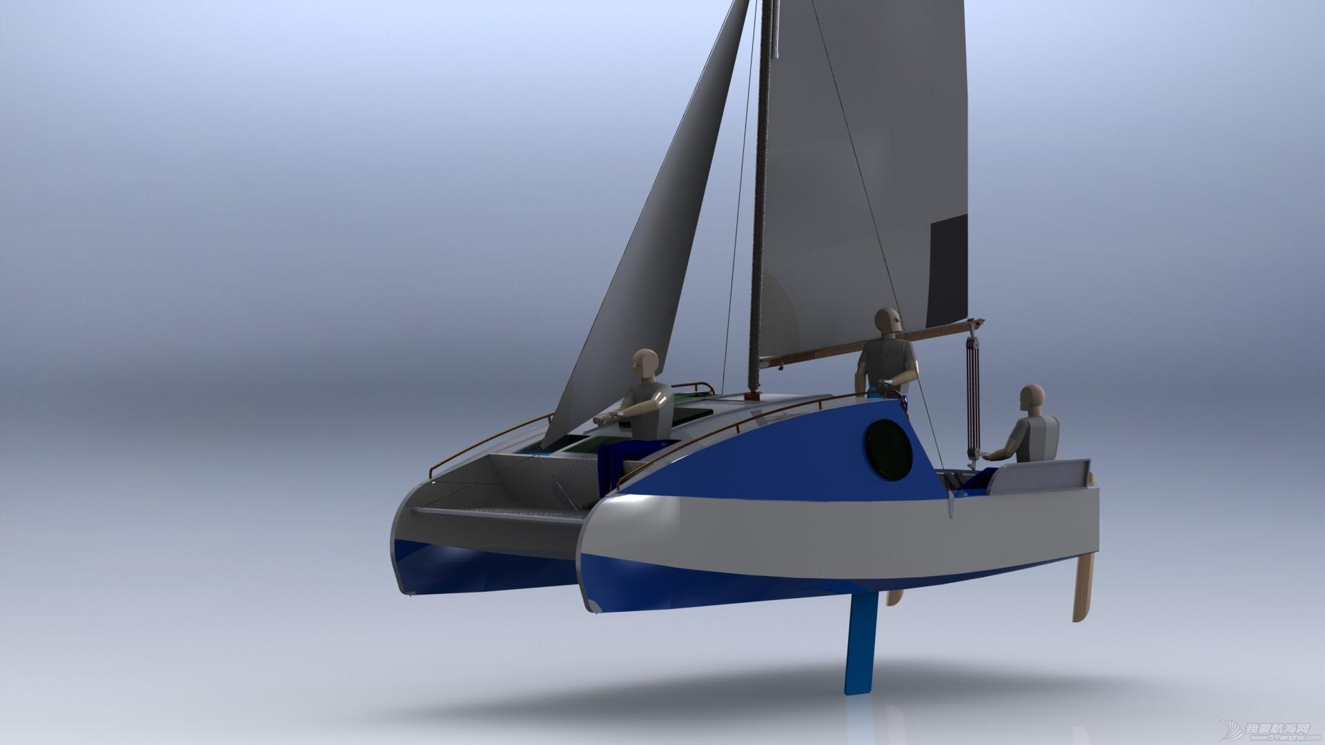 帆船,迷你 迷你有船舱的双体帆船 53a405b5500df.JPG