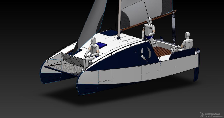 帆船,迷你 迷你有船舱的双体帆船 53a405b55088b.jpg