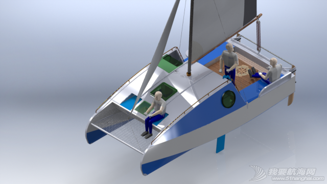 帆船,迷你 迷你有船舱的双体帆船 53a405b551056.png