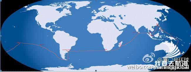 航海图-厦门号的全球航海-跟踪报道3